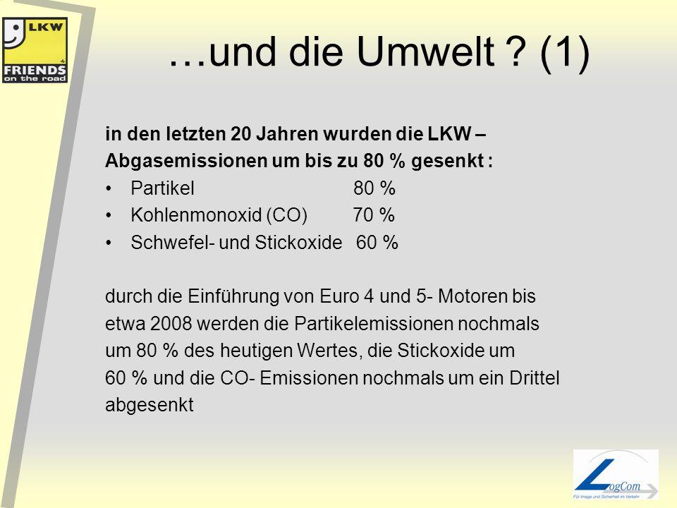 …und die Umwelt (1) in den letzten 20 Jahren wurden die LKW –