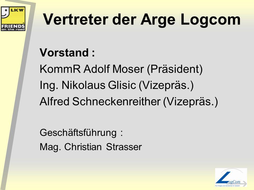 Vertreter der Arge Logcom