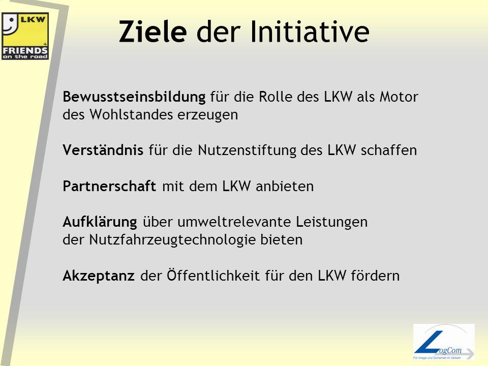 Ziele der Initiative Bewusstseinsbildung für die Rolle des LKW als Motor. des Wohlstandes erzeugen.
