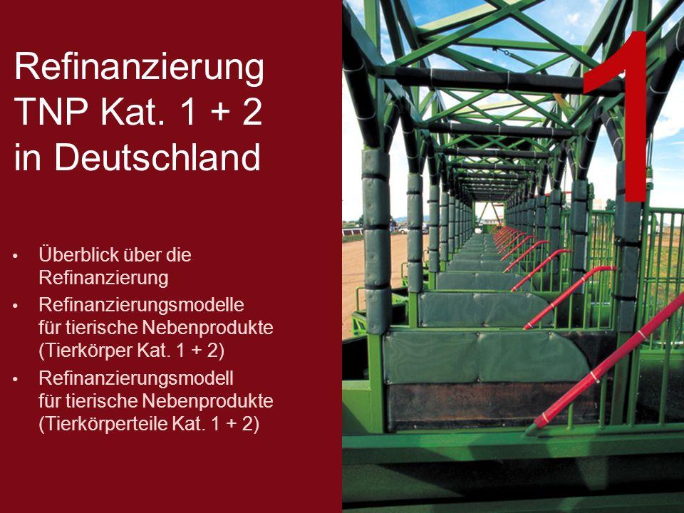 Refinanzierung TNP Kat. 1 + 2 in Deutschland