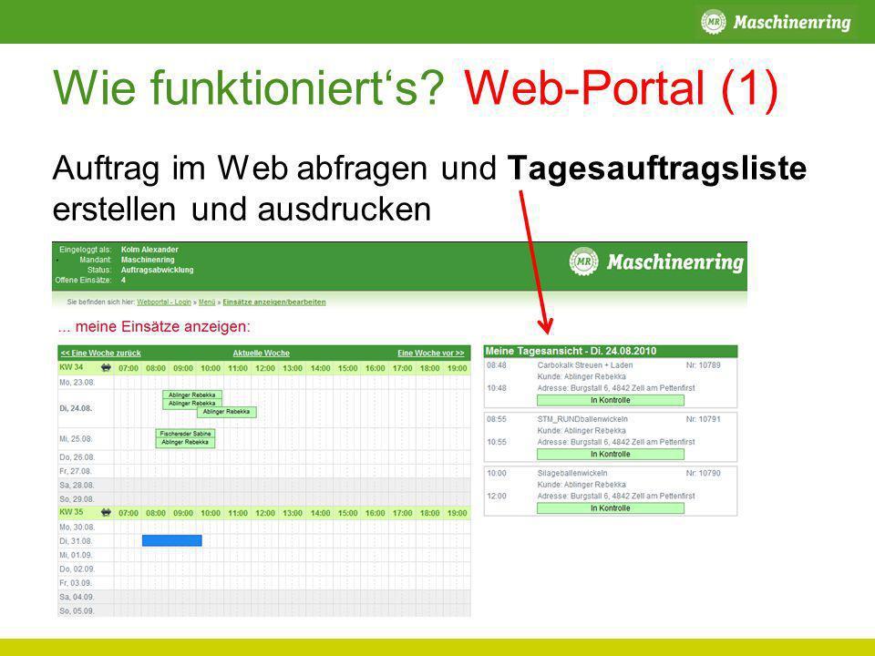 Wie funktioniert's Web-Portal (1)