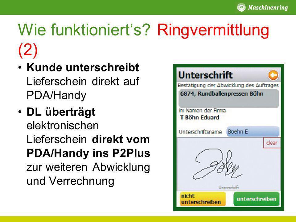 Wie funktioniert's Ringvermittlung (2)
