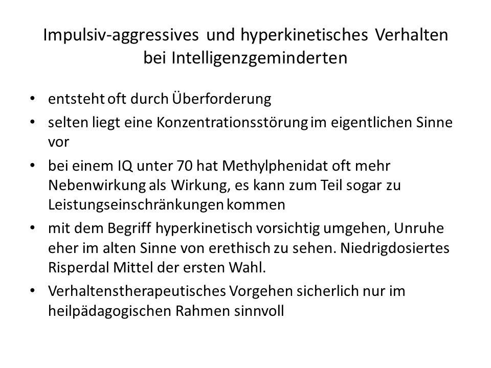 Impulsiv-aggressives und hyperkinetisches Verhalten bei Intelligenzgeminderten