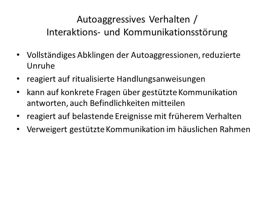Autoaggressives Verhalten / Interaktions- und Kommunikationsstörung