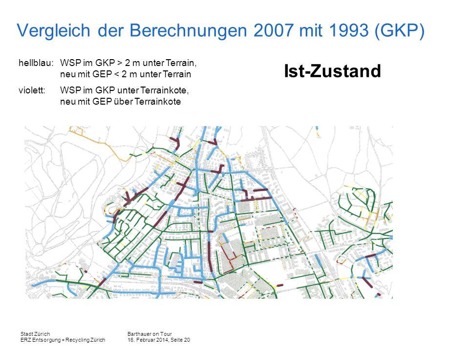 Vergleich der Berechnungen 2007 mit 1993 (GKP)