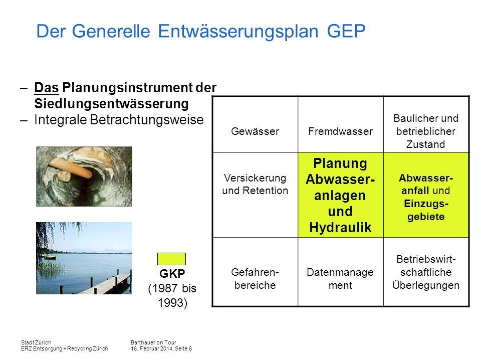 Der Generelle Entwässerungsplan GEP