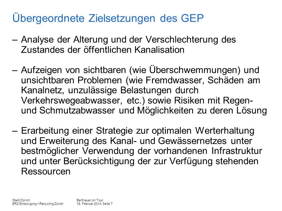 Übergeordnete Zielsetzungen des GEP