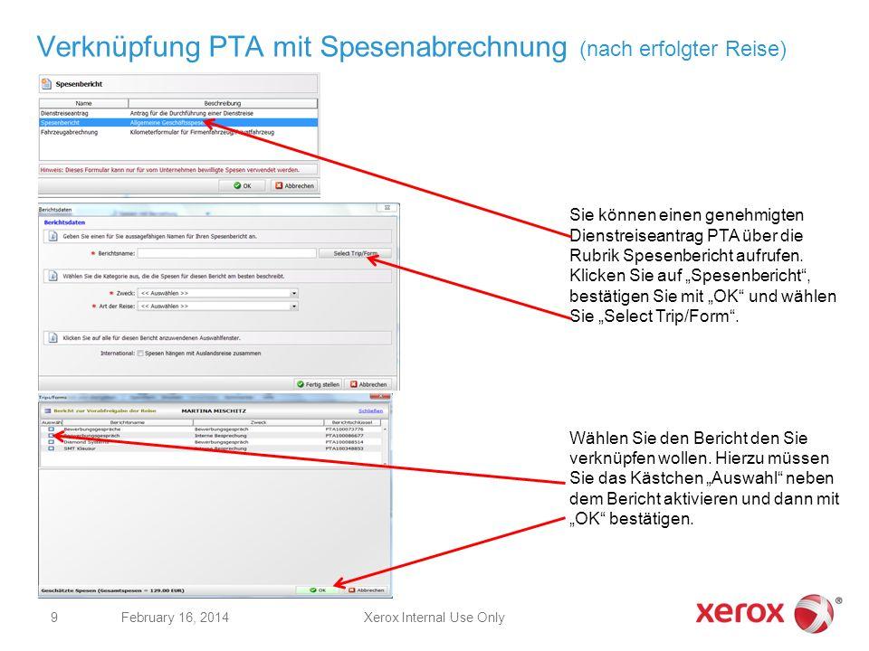Verknüpfung PTA mit Spesenabrechnung (nach erfolgter Reise)