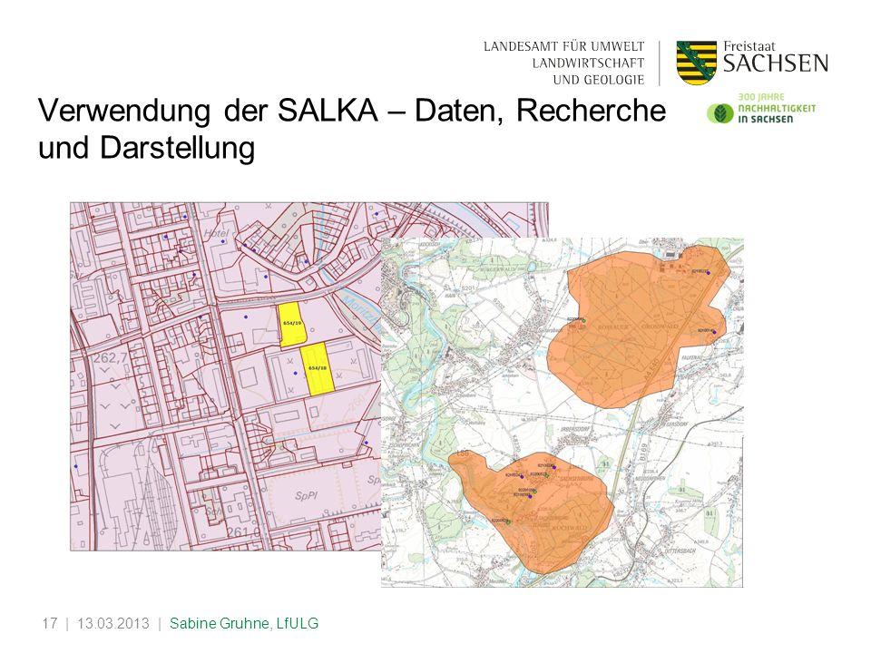 Verwendung der SALKA – Daten, Recherche und Darstellung