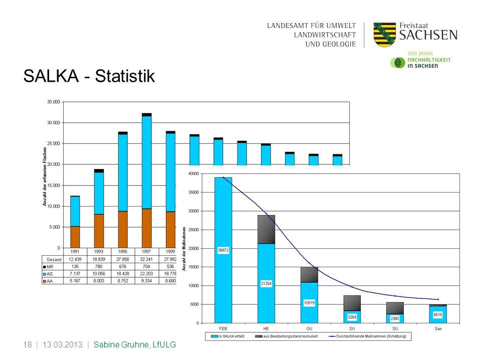 SALKA - Statistik | 13.03.2013 | Sabine Gruhne, LfULG