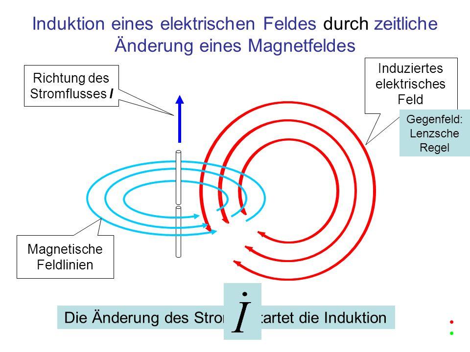 Induktion eines elektrischen Feldes durch zeitliche Änderung eines Magnetfeldes