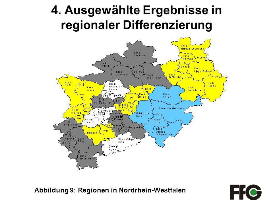 4. Ausgewählte Ergebnisse in regionaler Differenzierung