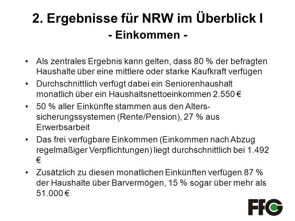 2. Ergebnisse für NRW im Überblick I - Einkommen -