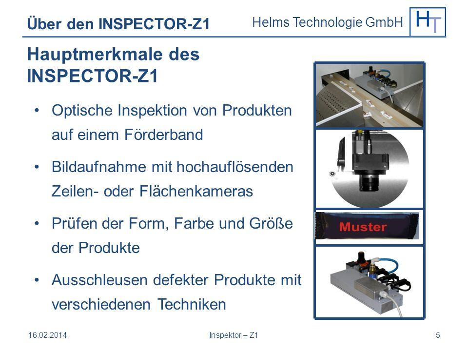Hauptmerkmale des INSPECTOR-Z1 Über den INSPECTOR-Z1