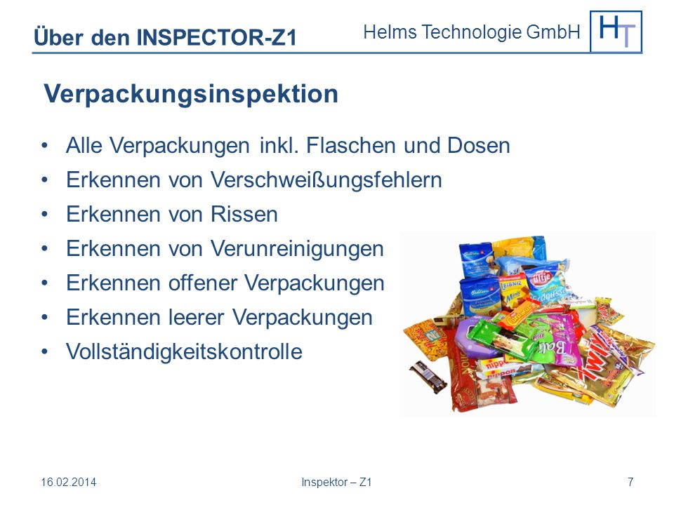 Verpackungsinspektion