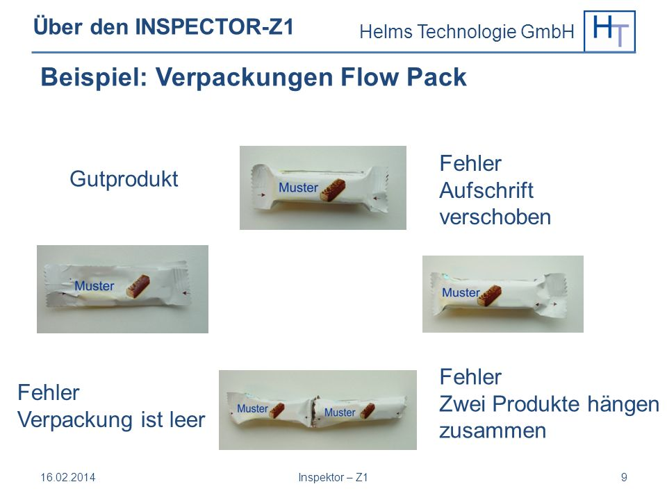 Beispiel: Verpackungen Flow Pack