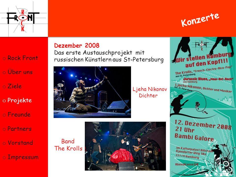 Konzerte Dezember 2008 Rock Front Das erste Austauschprojekt mit