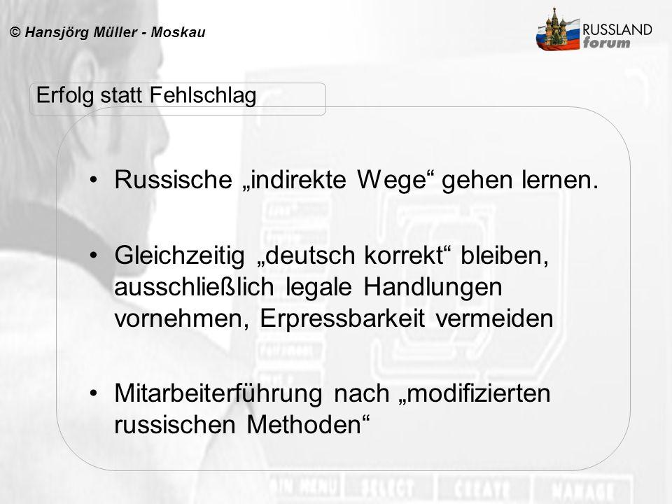 """Russische """"indirekte Wege gehen lernen."""
