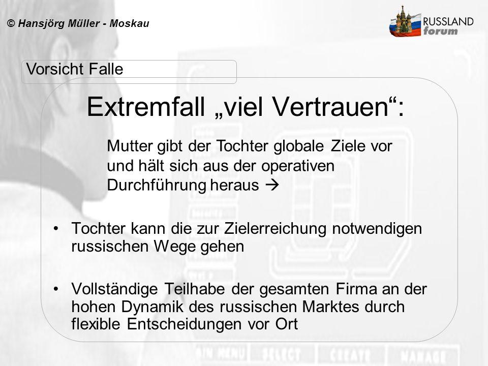 """Extremfall """"viel Vertrauen :"""