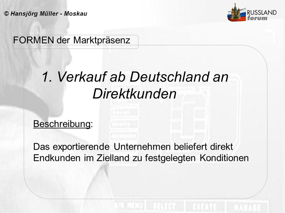 1. Verkauf ab Deutschland an Direktkunden