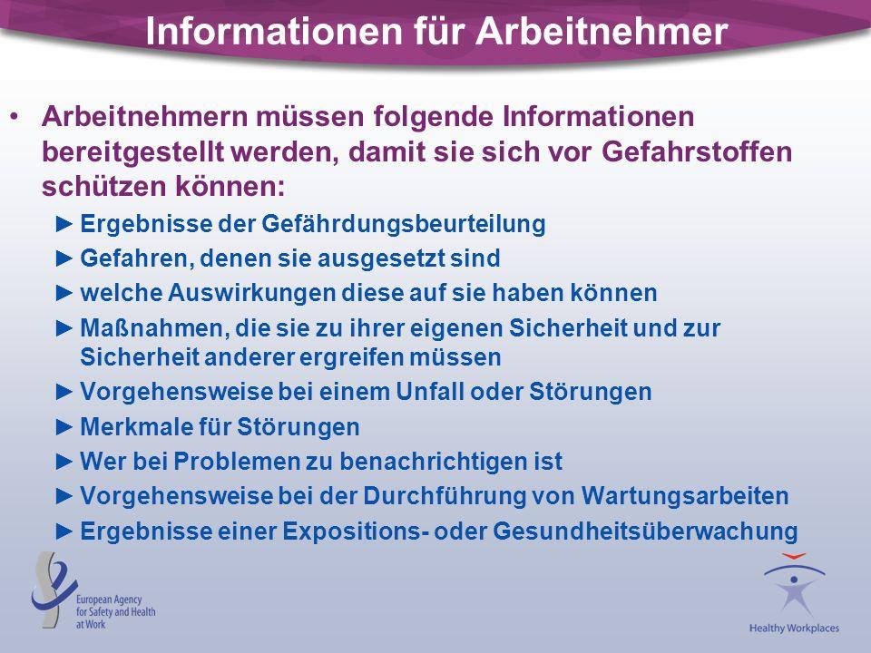Informationen für Arbeitnehmer