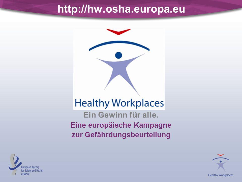 Eine europäische Kampagne zur Gefährdungsbeurteilung
