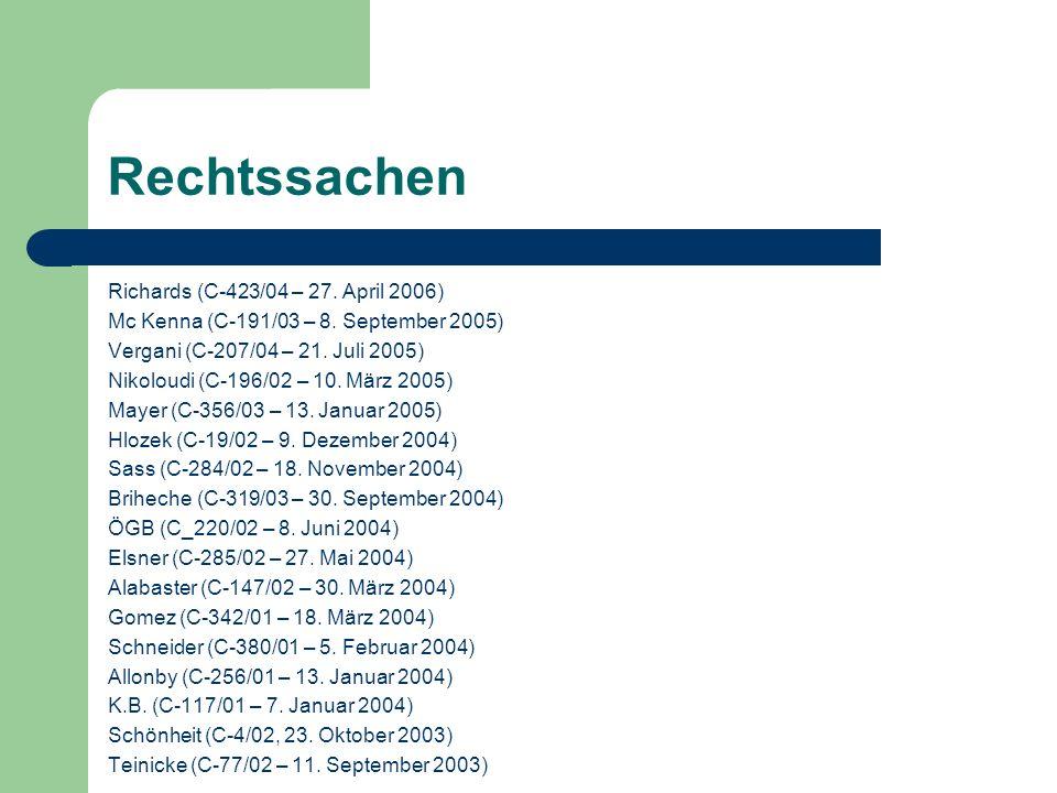 Rechtssachen Richards (C-423/04 – 27. April 2006)