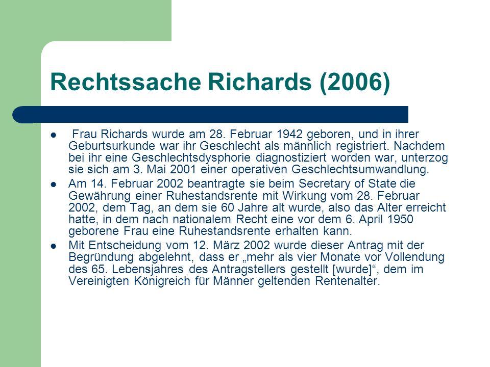 Rechtssache Richards (2006)