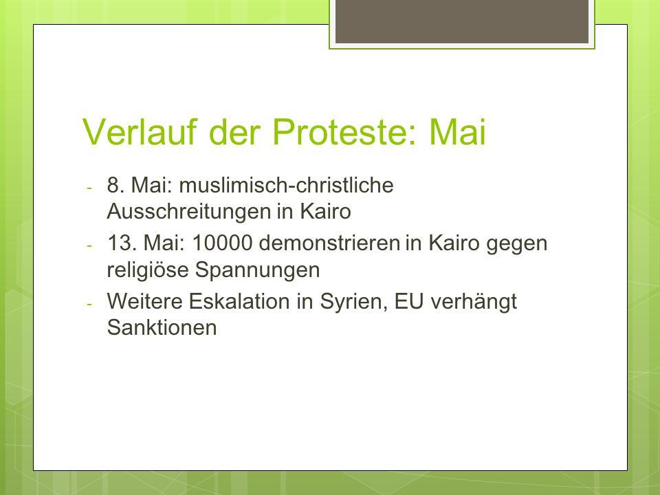Verlauf der Proteste: Mai