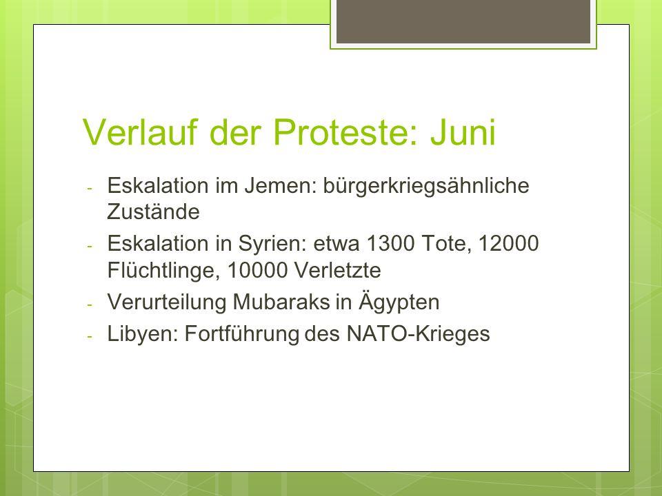 Verlauf der Proteste: Juni