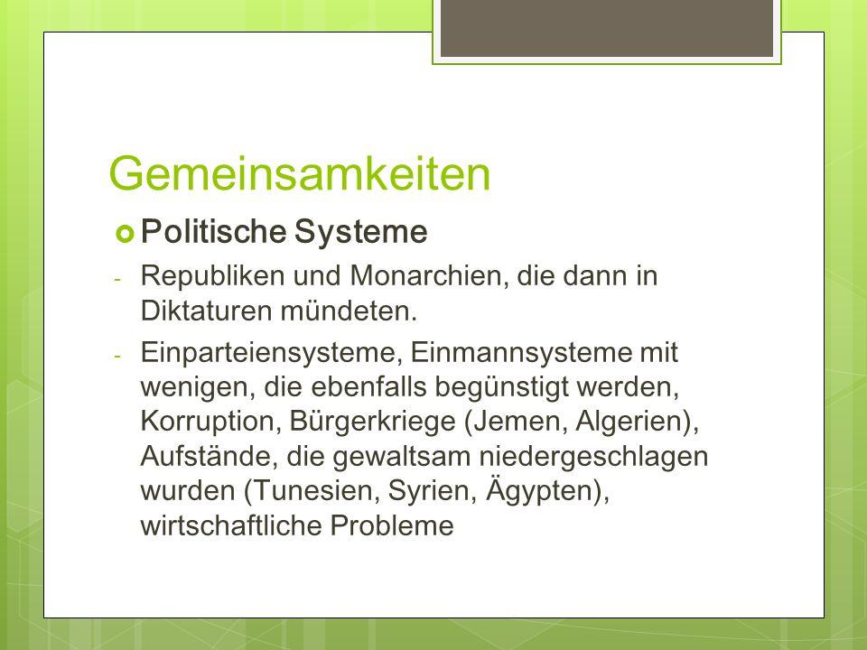 Gemeinsamkeiten Politische Systeme