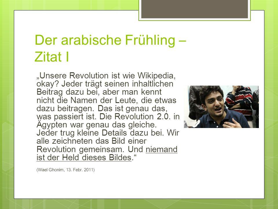 Der arabische Frühling – Zitat I