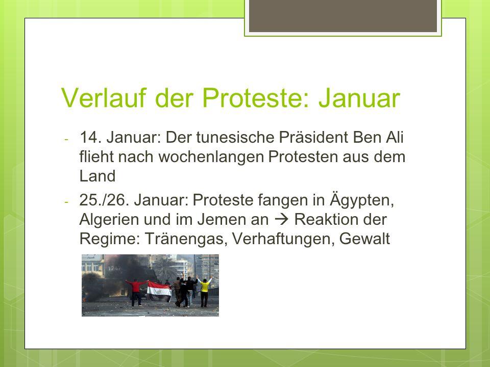 Verlauf der Proteste: Januar