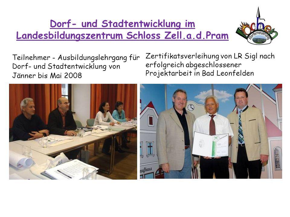 Dorf- und Stadtentwicklung im Landesbildungszentrum Schloss Zell. a. d