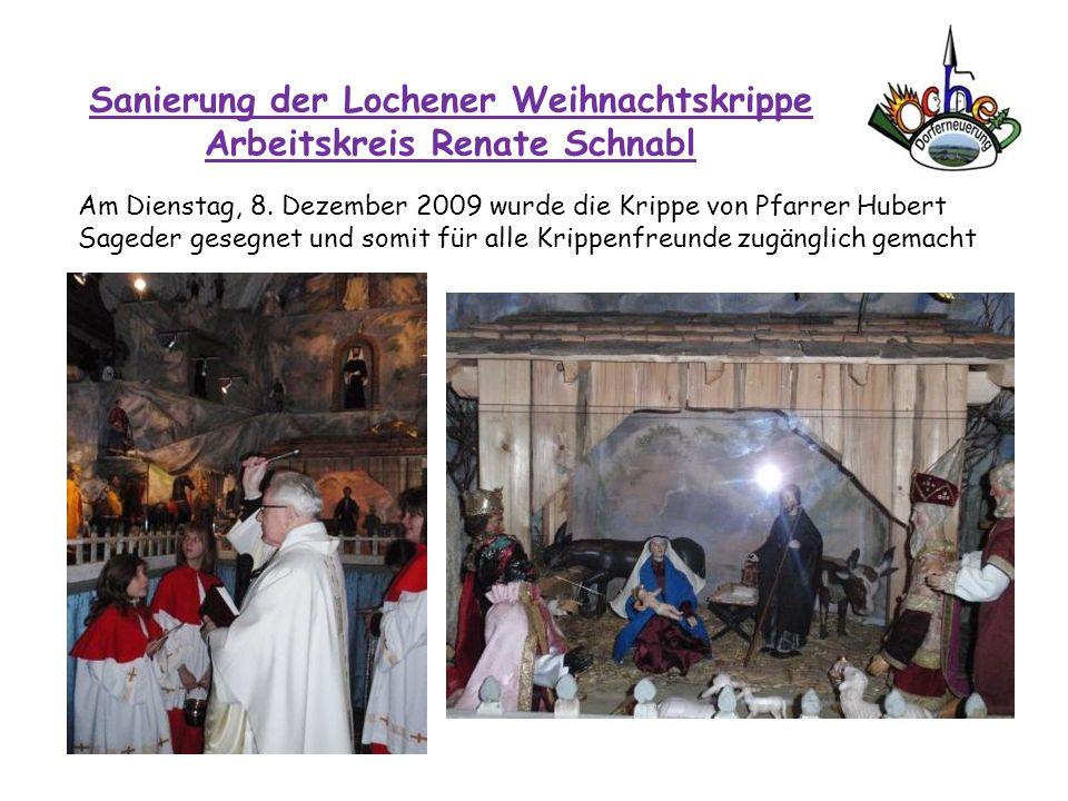 Sanierung der Lochener Weihnachtskrippe Arbeitskreis Renate Schnabl