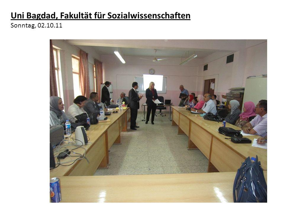 Uni Bagdad, Fakultät für Sozialwissenschaften