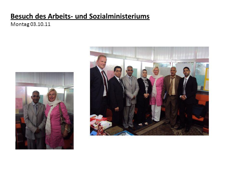 Besuch des Arbeits- und Sozialministeriums