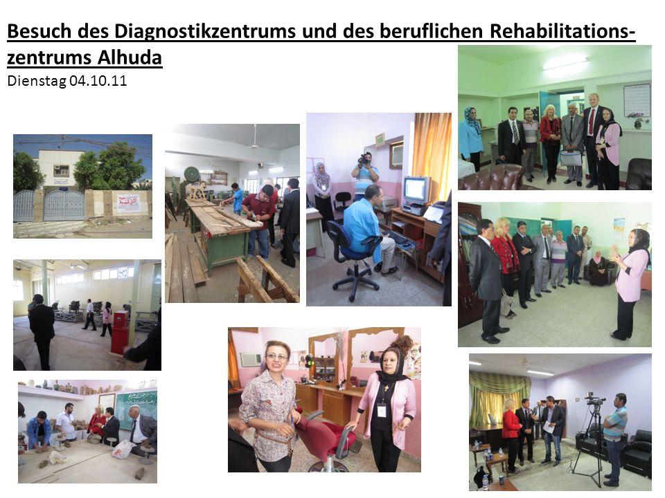 Besuch des Diagnostikzentrums und des beruflichen Rehabilitations-