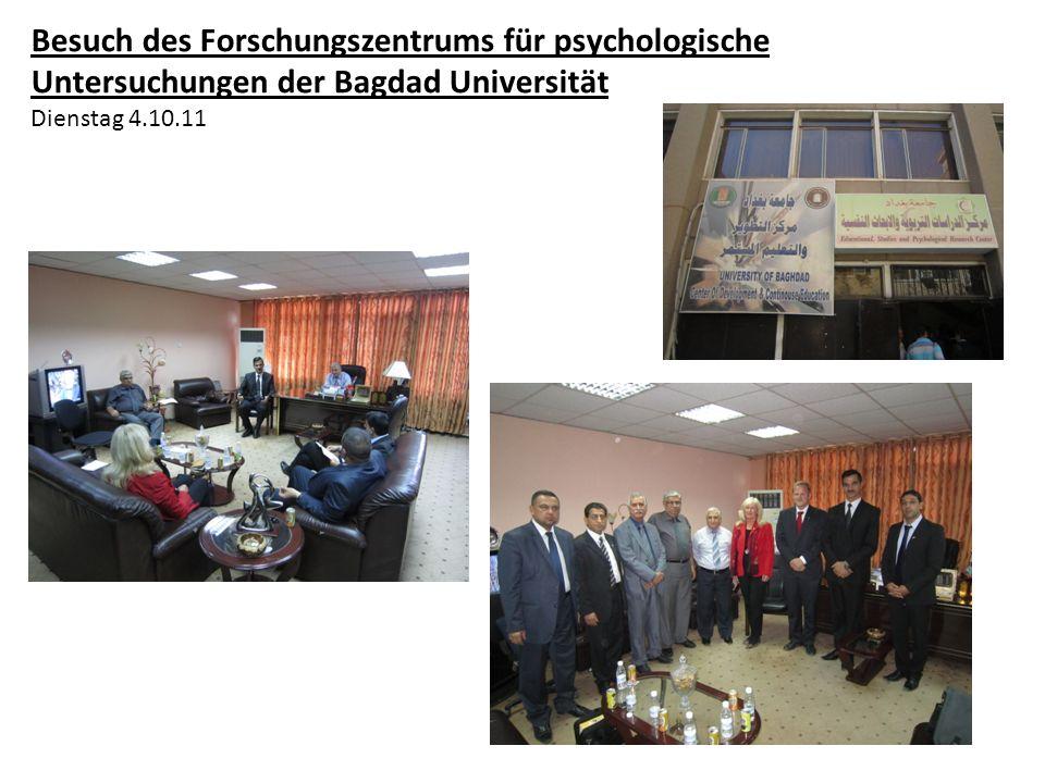 Besuch des Forschungszentrums für psychologische