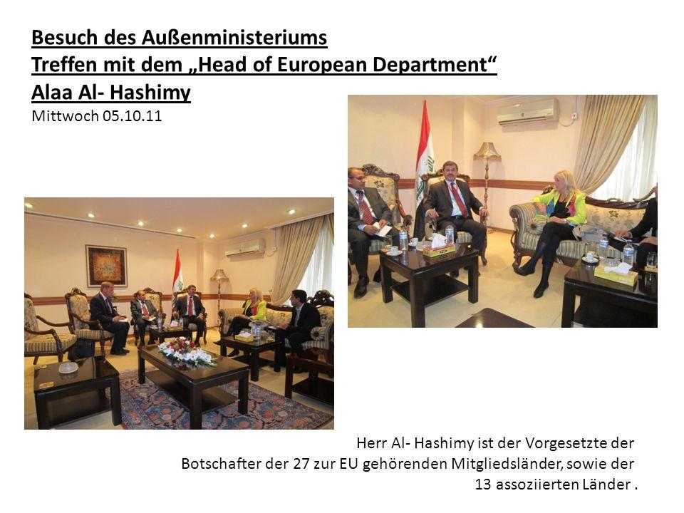 Besuch des Außenministeriums