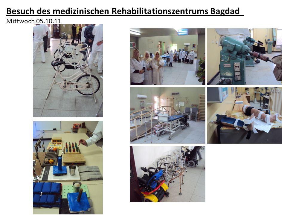 Besuch des medizinischen Rehabilitationszentrums Bagdad