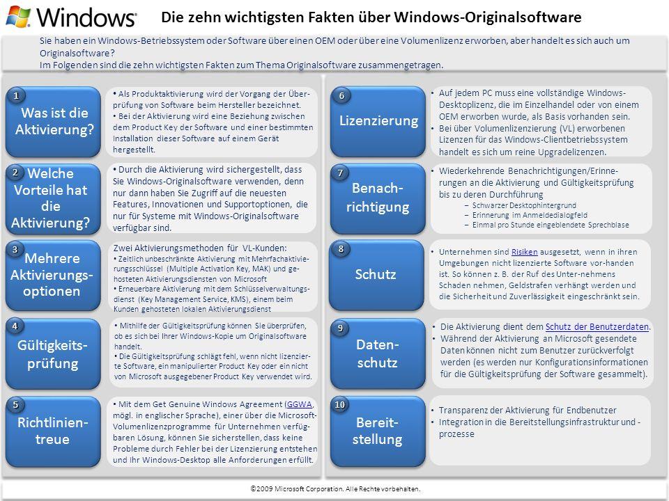 Die zehn wichtigsten Fakten über Windows-Originalsoftware