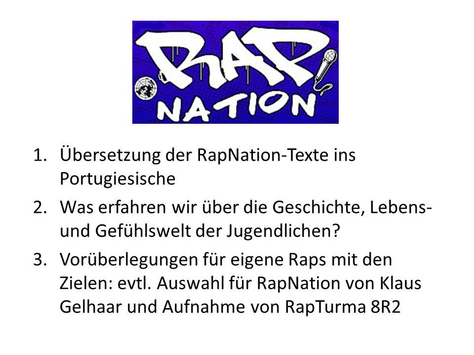 Übersetzung der RapNation-Texte ins Portugiesische