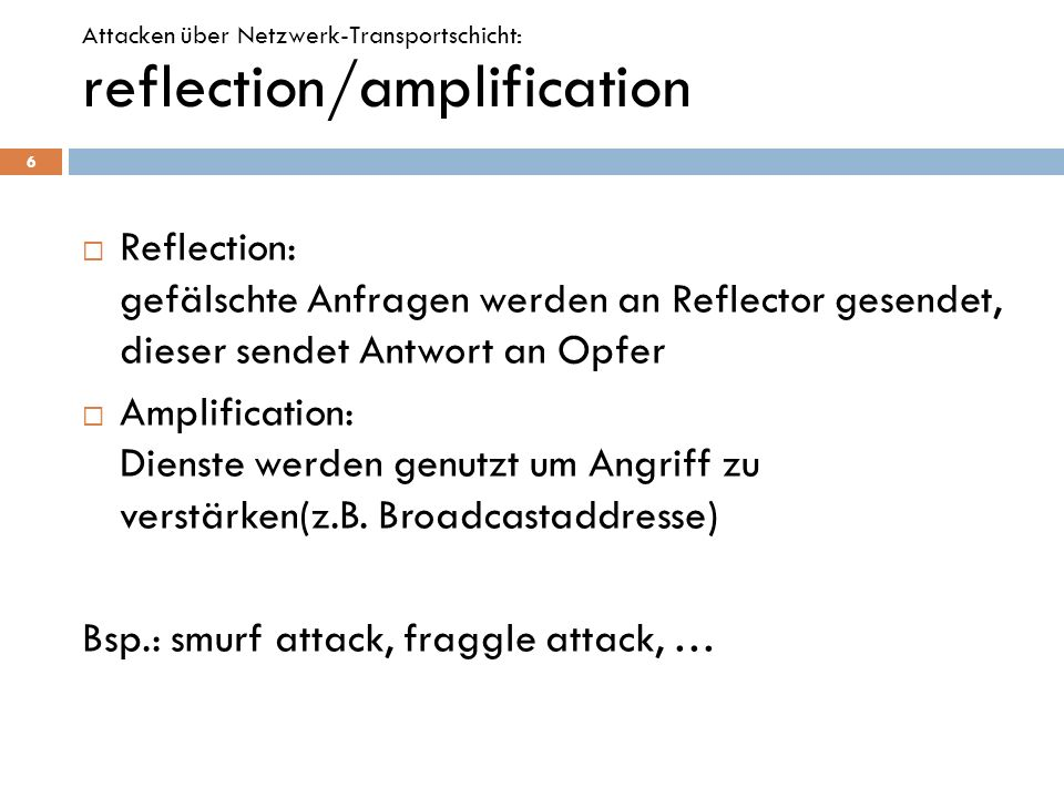 reflection/amplification