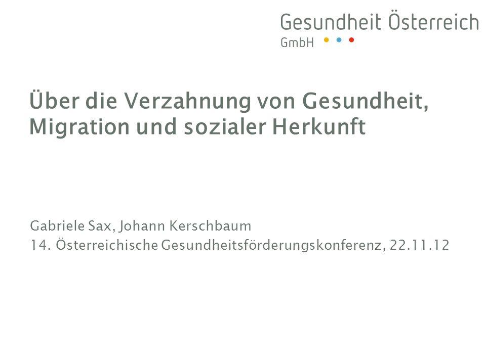 Über die Verzahnung von Gesundheit, Migration und sozialer Herkunft