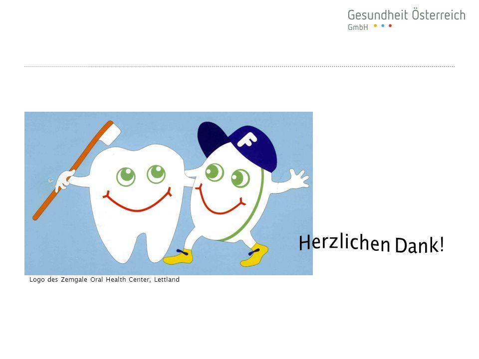 Herzlichen Dank! Logo des Zemgale Oral Health Center, Lettland