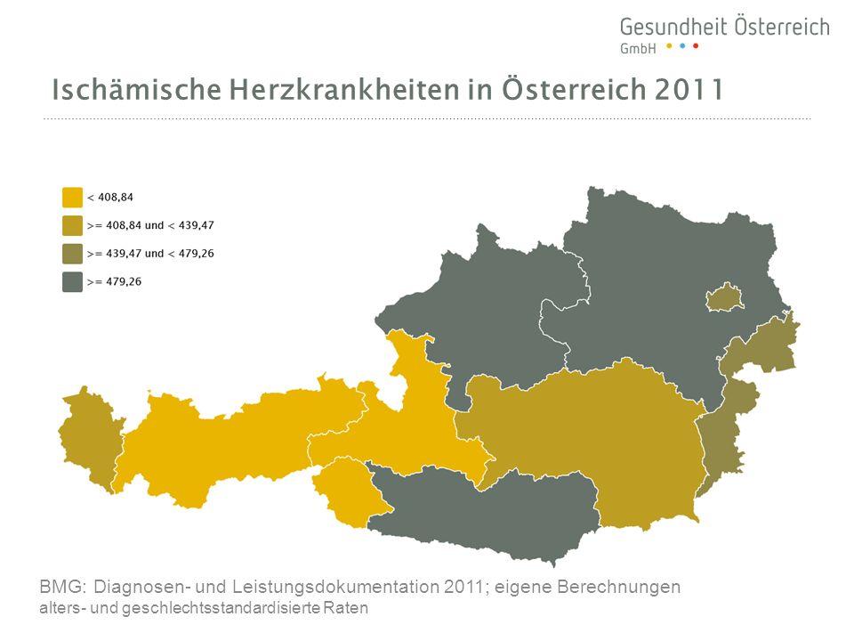Ischämische Herzkrankheiten in Österreich 2011