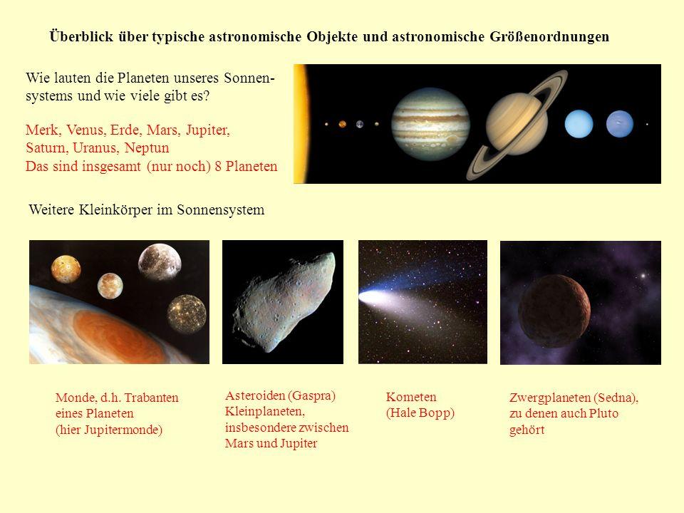 Wie lauten die Planeten unseres Sonnen- systems und wie viele gibt es