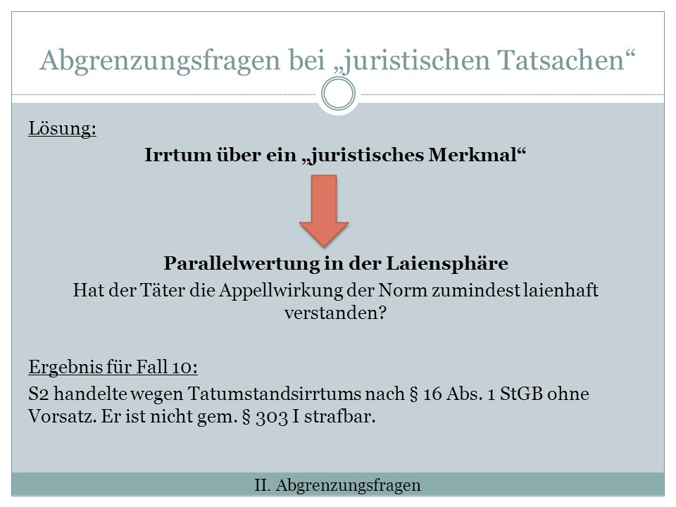 """Abgrenzungsfragen bei """"juristischen Tatsachen"""