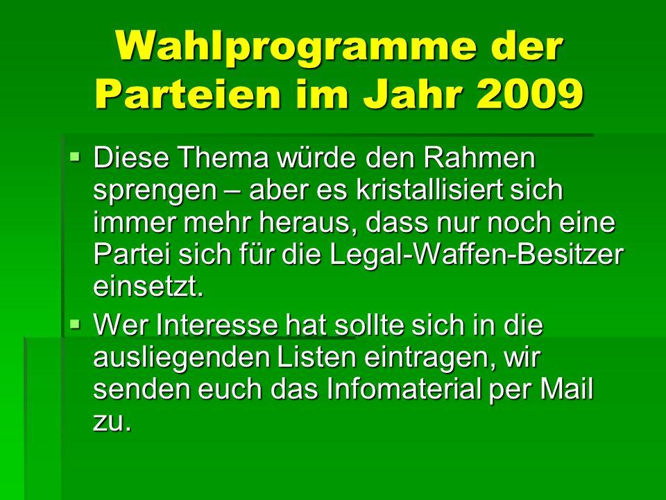 Wahlprogramme der Parteien im Jahr 2009